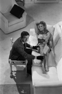 Ursula Andress and Peter Sellers: Sofa From Above