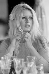 Brigitte Bardot Table Stare (Co-signed Terry O'Neill and Brigitte Bardot)